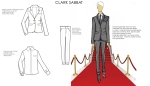 Luxury men's fashion sketches for client